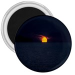 Sunset Ocean Azores Portugal Sol 3  Magnets Front