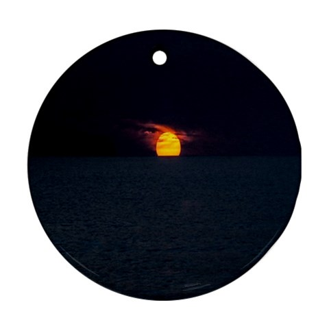 Sunset Ocean Azores Portugal Sol Ornament (Round)