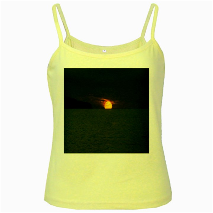 Sunset Ocean Azores Portugal Sol Yellow Spaghetti Tank