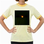Sunset Ocean Azores Portugal Sol Women s Fitted Ringer T-Shirts Front