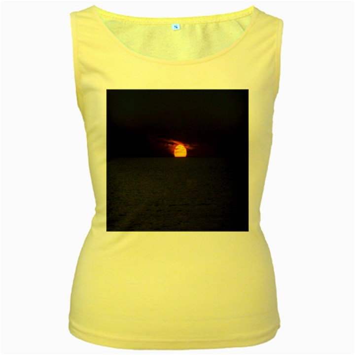 Sunset Ocean Azores Portugal Sol Women s Yellow Tank Top