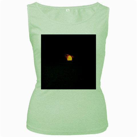 Sunset Ocean Azores Portugal Sol Women s Green Tank Top