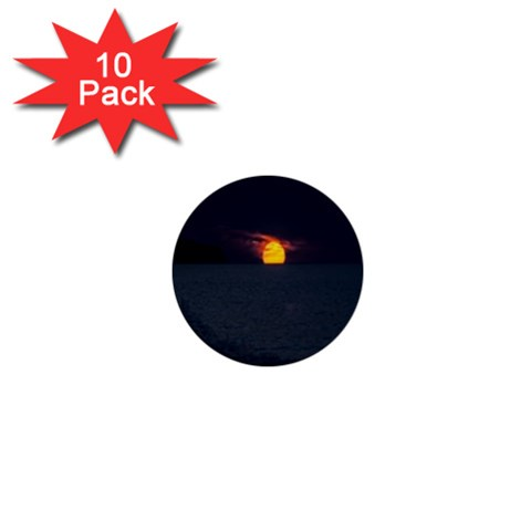 Sunset Ocean Azores Portugal Sol 1  Mini Buttons (10 pack)