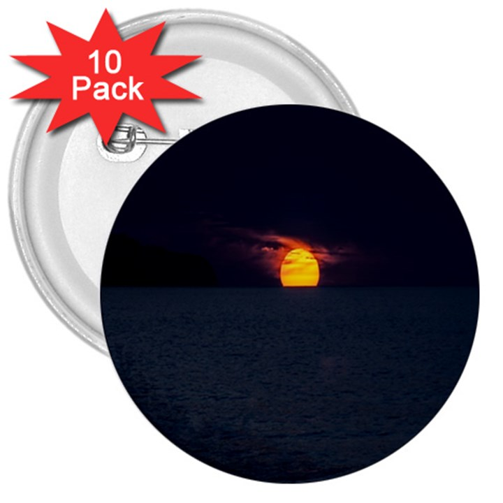 Sunset Ocean Azores Portugal Sol 3  Buttons (10 pack)