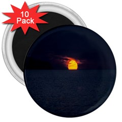 Sunset Ocean Azores Portugal Sol 3  Magnets (10 pack)