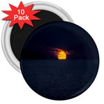 Sunset Ocean Azores Portugal Sol 3  Magnets (10 pack)  Front