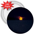 Sunset Ocean Azores Portugal Sol 3  Buttons (100 pack)  Front