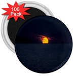 Sunset Ocean Azores Portugal Sol 3  Magnets (100 pack) Front