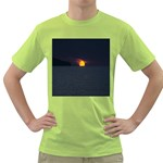 Sunset Ocean Azores Portugal Sol Green T-Shirt Front