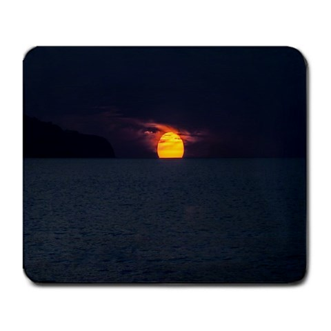 Sunset Ocean Azores Portugal Sol Large Mousepads