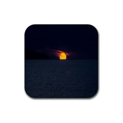 Sunset Ocean Azores Portugal Sol Rubber Square Coaster (4 pack)