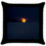 Sunset Ocean Azores Portugal Sol Throw Pillow Case (Black) Front