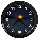 Sunset Ocean Azores Portugal Sol Wall Clocks (Black) Front
