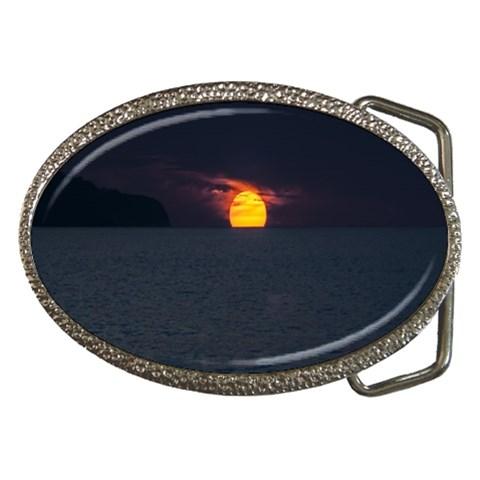 Sunset Ocean Azores Portugal Sol Belt Buckles
