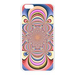 Pastel Shades Ornamental Flower Apple Seamless iPhone 6 Plus/6S Plus Case (Transparent)