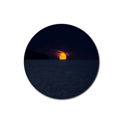 Sunset Ocean Azores Portugal Sol Rubber Round Coaster (4 pack)