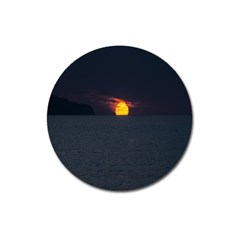 Sunset Ocean Azores Portugal Sol Magnet 3  (Round)