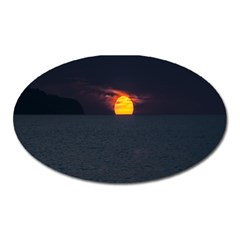 Sunset Ocean Azores Portugal Sol Oval Magnet