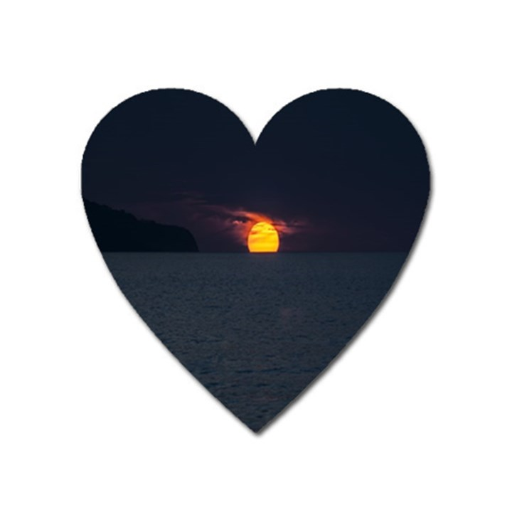 Sunset Ocean Azores Portugal Sol Heart Magnet