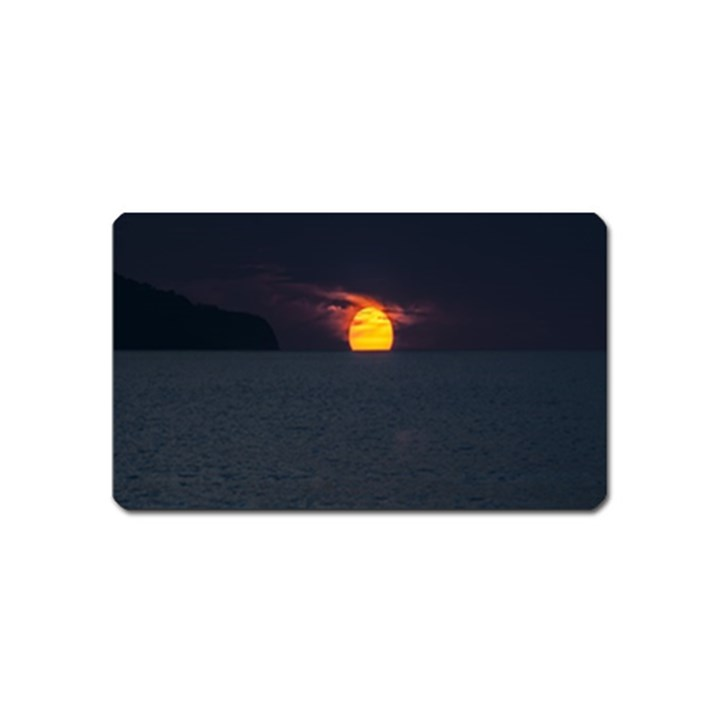Sunset Ocean Azores Portugal Sol Magnet (Name Card)