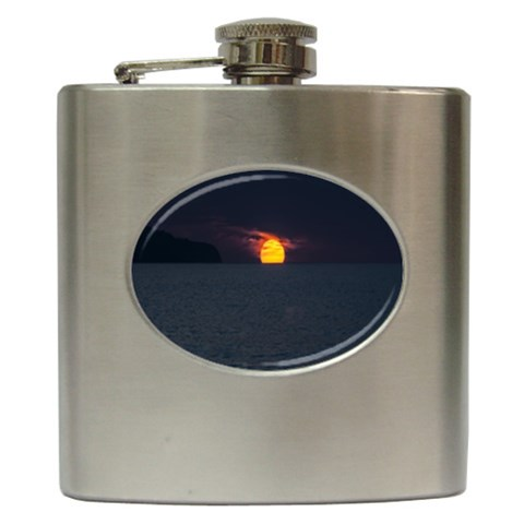 Sunset Ocean Azores Portugal Sol Hip Flask (6 oz)