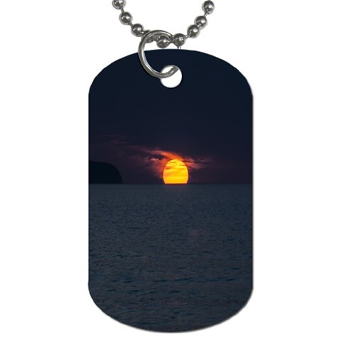 Sunset Ocean Azores Portugal Sol Dog Tag (Two Sides)