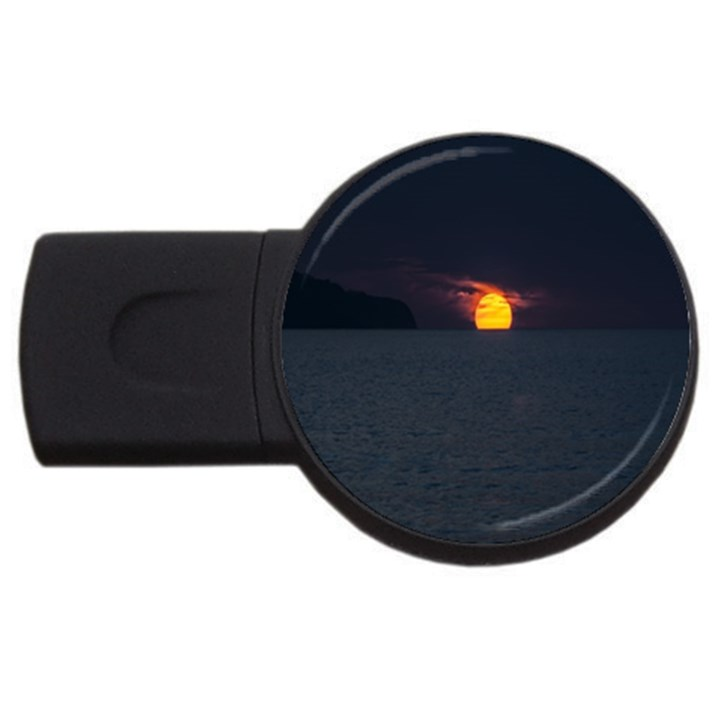 Sunset Ocean Azores Portugal Sol USB Flash Drive Round (1 GB)