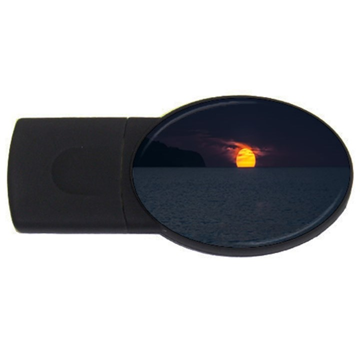 Sunset Ocean Azores Portugal Sol USB Flash Drive Oval (1 GB)