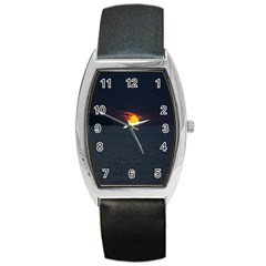 Sunset Ocean Azores Portugal Sol Barrel Style Metal Watch