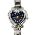 Sunset Ocean Azores Portugal Sol Heart Italian Charm Watch Front