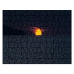 Sunset Ocean Azores Portugal Sol Rectangular Jigsaw Puzzl Front