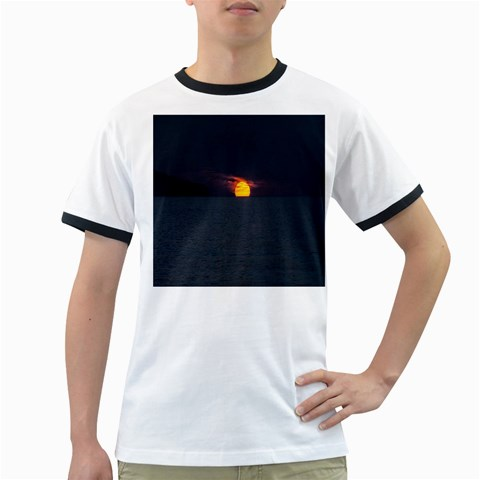 Sunset Ocean Azores Portugal Sol Ringer T-Shirts