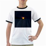 Sunset Ocean Azores Portugal Sol Ringer T-Shirts Front