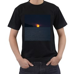 Sunset Ocean Azores Portugal Sol Men s T-Shirt (Black) (Two Sided)