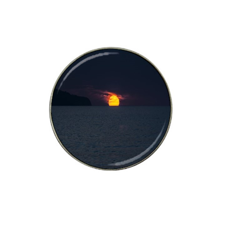Sunset Ocean Azores Portugal Sol Hat Clip Ball Marker (4 pack)