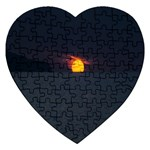 Sunset Ocean Azores Portugal Sol Jigsaw Puzzle (Heart) Front