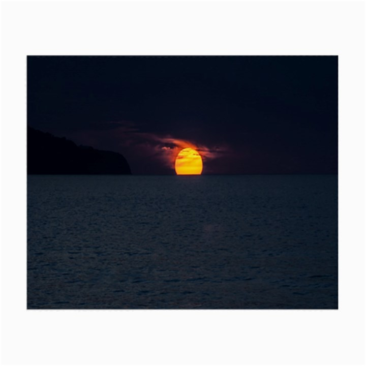Sunset Ocean Azores Portugal Sol Small Glasses Cloth