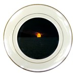 Sunset Ocean Azores Portugal Sol Porcelain Plates Front