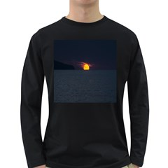 Sunset Ocean Azores Portugal Sol Long Sleeve Dark T-Shirts
