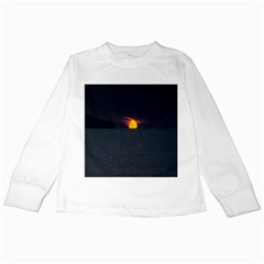 Sunset Ocean Azores Portugal Sol Kids Long Sleeve T-Shirts