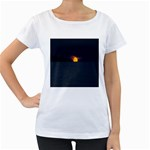 Sunset Ocean Azores Portugal Sol Women s Loose-Fit T-Shirt (White) Front