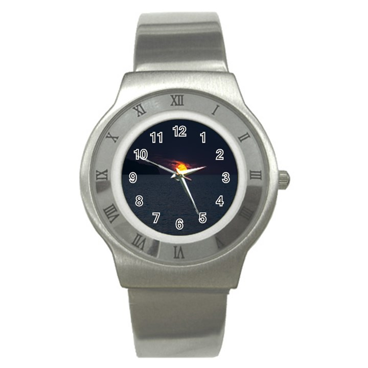 Sunset Ocean Azores Portugal Sol Stainless Steel Watch
