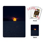 Sunset Ocean Azores Portugal Sol Playing Card Back