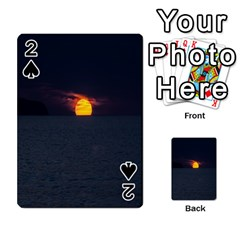 Sunset Ocean Azores Portugal Sol Playing Cards 54 Designs