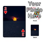 Sunset Ocean Azores Portugal Sol Playing Cards 54 Designs  Front - Heart2