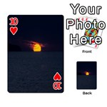 Sunset Ocean Azores Portugal Sol Playing Cards 54 Designs  Front - Heart10