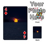 Sunset Ocean Azores Portugal Sol Playing Cards 54 Designs  Front - Diamond4