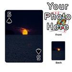 Sunset Ocean Azores Portugal Sol Playing Cards 54 Designs  Front - Spade5