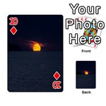 Sunset Ocean Azores Portugal Sol Playing Cards 54 Designs  Front - Diamond10