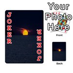 Sunset Ocean Azores Portugal Sol Playing Cards 54 Designs  Front - Joker2